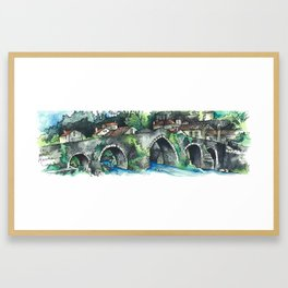 Camino Finisterre - Puente Maceira Framed Art Print