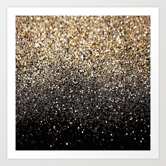 Black Royalty Glitter  Kunstdrucke