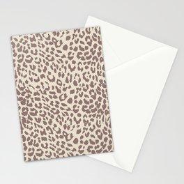 Light Tan Leopard Stationery Cards