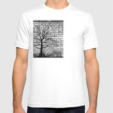 Graffiti Tree B/W Mens Fitted Tee SMALL White