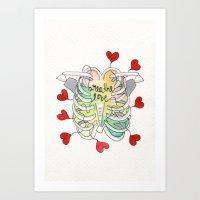 Breathe Love Art Print