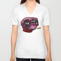 et V-neck T-shirts featuring ET Mofo by Beery Method