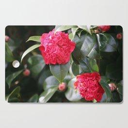 Winter Camellia Cutting Board