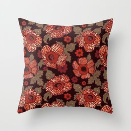 Rafflesia Endangered Flower Throw Pillow