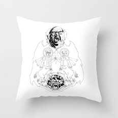 Two Horses, Tim and Eric (B&W) Throw Pillow