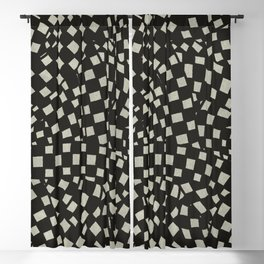 Emo Checkerboard Pattern (WHITE) Blackout Curtain