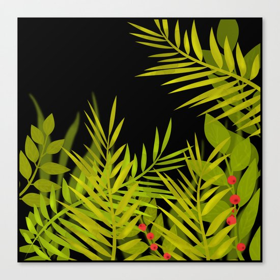 The leaves and berries. Canvas Print