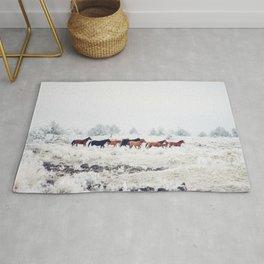 Winter Horse Herd Rug