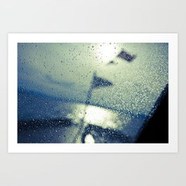 Water on the boat Art Print