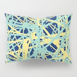 Daisy Scribble Navy, Mint and Lemon Pillow Sham