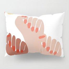 We persist - Girls hands - girlpower  Pillow Sham