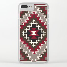 American Native Pattern No. 143 Clear iPhone Case