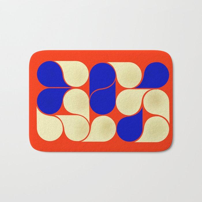 Mid-century geometric shapes-no10 Bath Mat