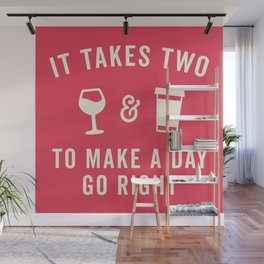 Wine & Coffee Funny Quote Wall Mural