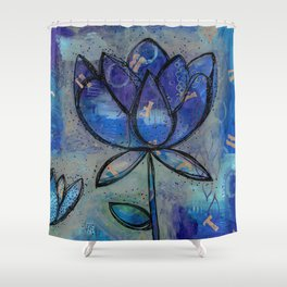 Abstract - Lotus flower - Intuitive Shower Curtain