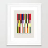 the national Framed Art Prints featuring National Colors by Tom Davie