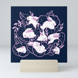 Where the bunnies sleep Mini Art Print