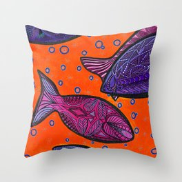 FISH3 Throw Pillow