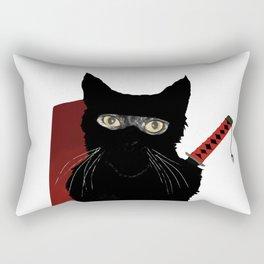 Ninja Cat Rectangular Pillow