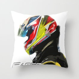 Racer Art Throw Pillow