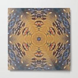 Michaelangelo Turtle Mandala Metal Print