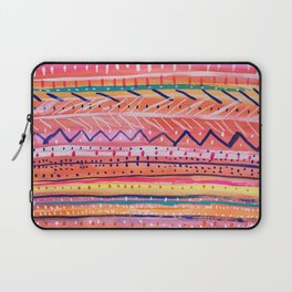 Hand painted Bright Patterned Stripes Laptop Sleeve