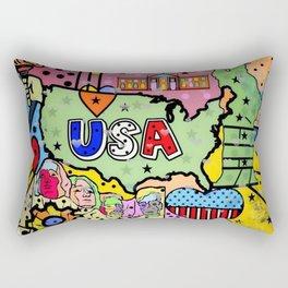 USA Popart 2018 by Nico Bielow Rectangular Pillow