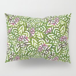 I don't need to improve - Green and pink Pillow Sham