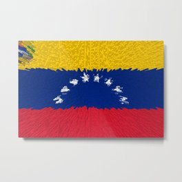 Extruded flag of Venezuela Metal Print