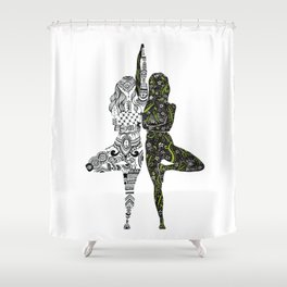 Yin Yang duality interconnected Shower Curtain