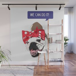We Can Do it! Rosie the Bulldog Wall Mural