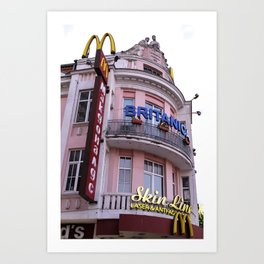 Eastern Europe urban architecture and a McDonald's Fast Food Art Print
