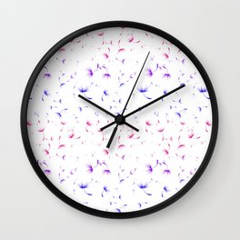 Dandelion Seeds Bisexual Pride (white background) Wall Clock