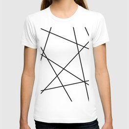Lines in Chaos II - White T-shirt