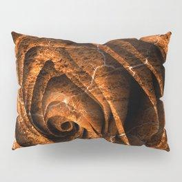 Burning Grunge Rose Pillow Sham