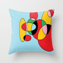 Circulos mult color Throw Pillow
