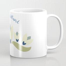 Dutch tulips pale yellow green and blue Coffee Mug