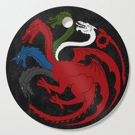 Fantastic Heraldry: Chromatic Dragon Cutting Board