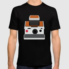 Polaroid SX-70 Land Camera Mens Fitted Tee Black MEDIUM