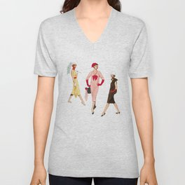 1950's Girls Unisex V-Neck