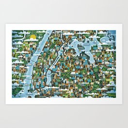 The Big Apple Art Print