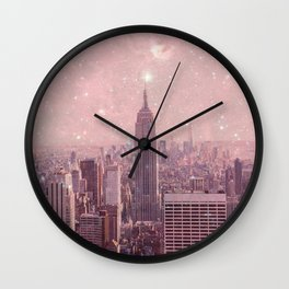 Stardust Covering New York Wall Clock