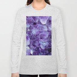 Amethyst Crystals Long Sleeve T-shirt