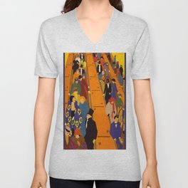 London Subway Unisex V-Neck