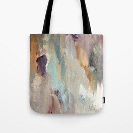 Gentle Beauty [4] - an elegant acrylic piece in deep purple, red, gold, and white Tote Bag