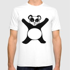 Panda X White SMALL Mens Fitted Tee