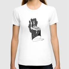 Summer Love White Womens Fitted Tee SMALL