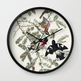 Rose-breasted Grosbeak from Birds of America (1827) by John James Audubon etched by William Home Liz Wall Clock