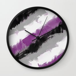 Ace Watercolor Pride Wall Clock