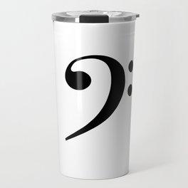 White and Black - Bass Clef Travel Mug